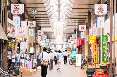 懐かしい雰囲気が楽しい佐竹商店街