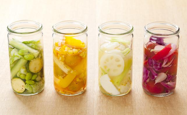 カラフルな野菜が七色でかわいい