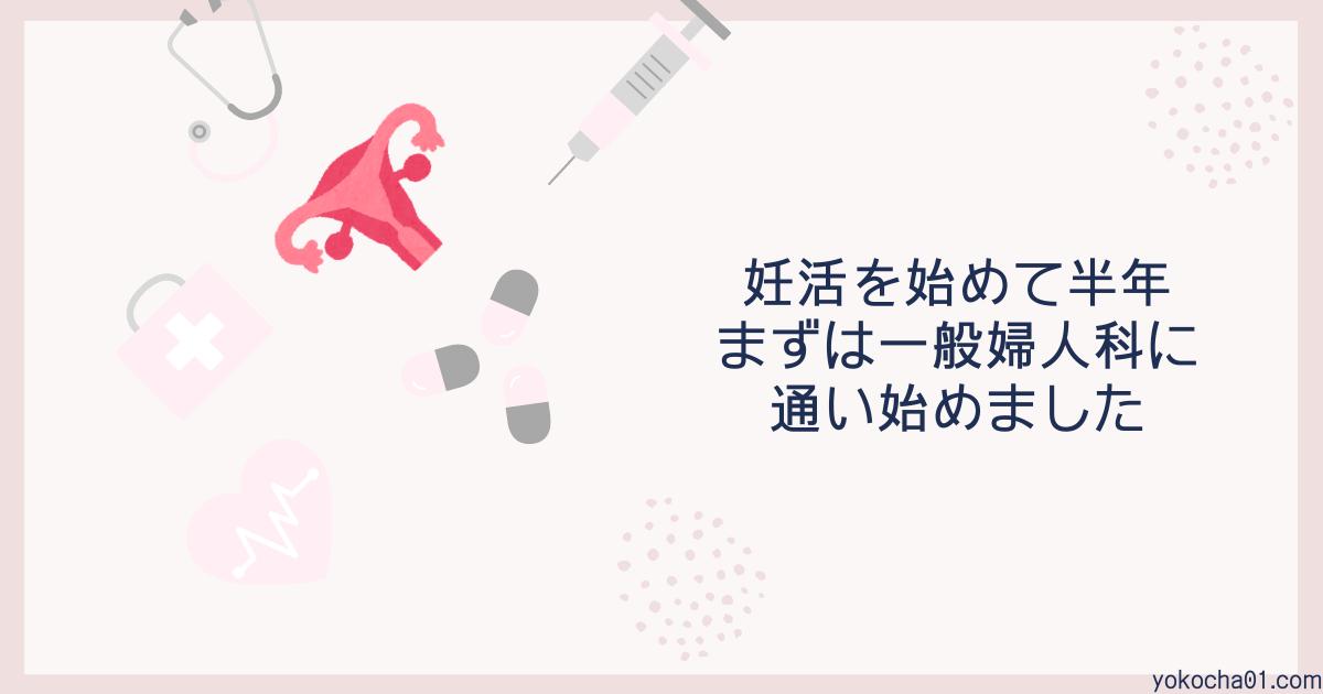 妊活を始めて半年、まずは一般婦人科に通い始めました|ひとりめ妊活2