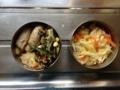 豆腐の肉巻、ひじきの梅サラダ、コールスロー