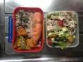 鮭、南瓜としし唐煮、豚しゃぶサラダ