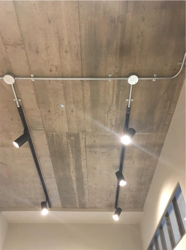ライティングレールとコンクリートの天井