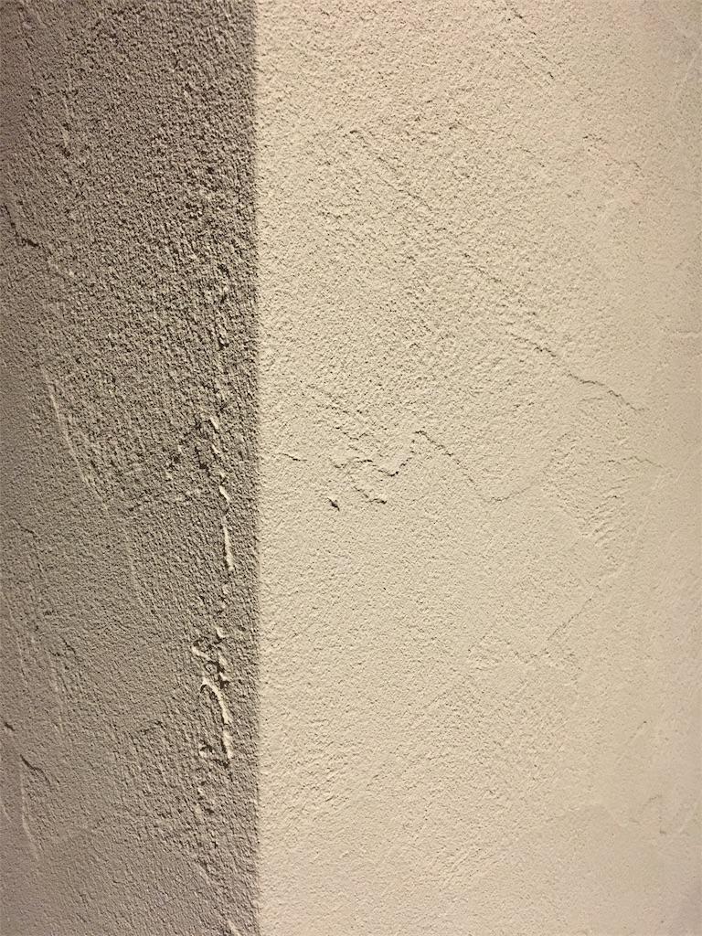 ゼオライトで塗った壁