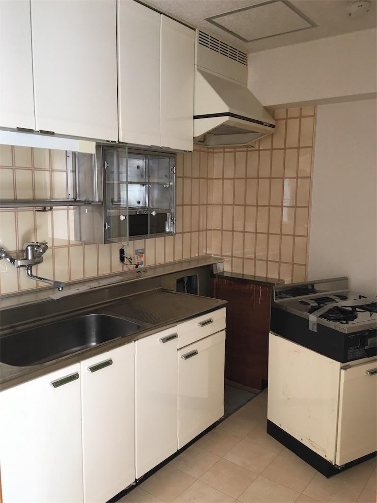 リノベーション前の独立型キッチン03