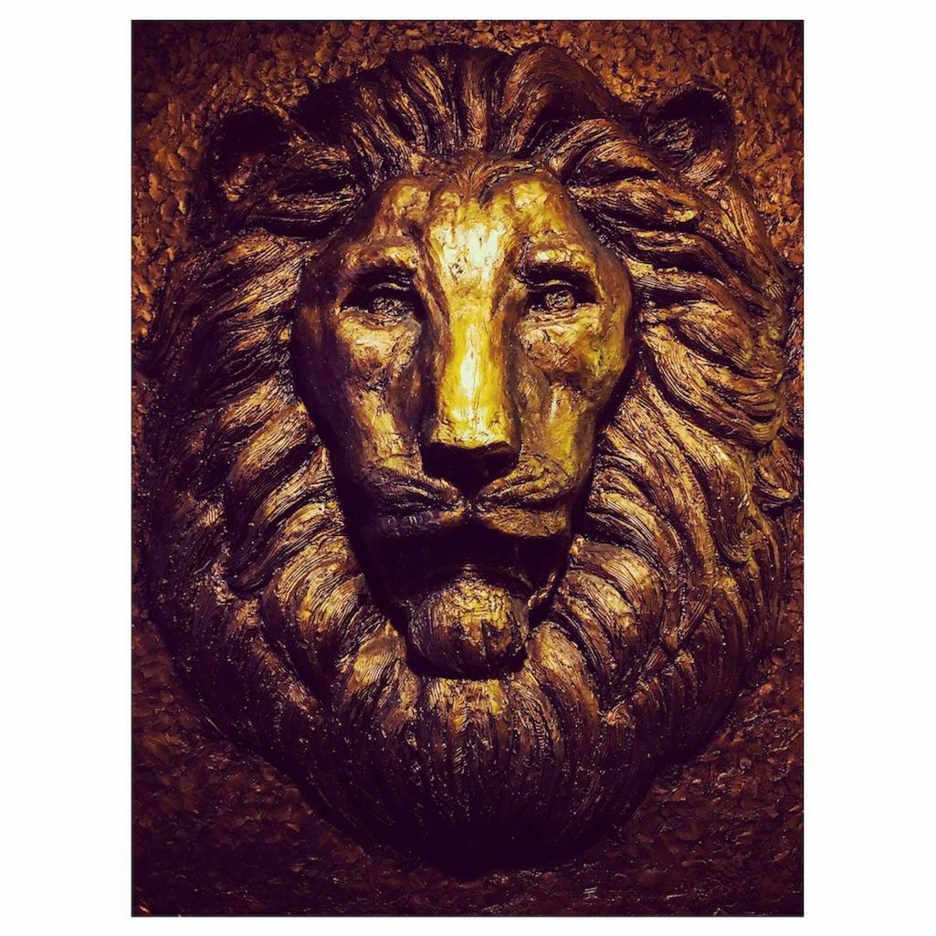 ライオンズマンションのライオン像
