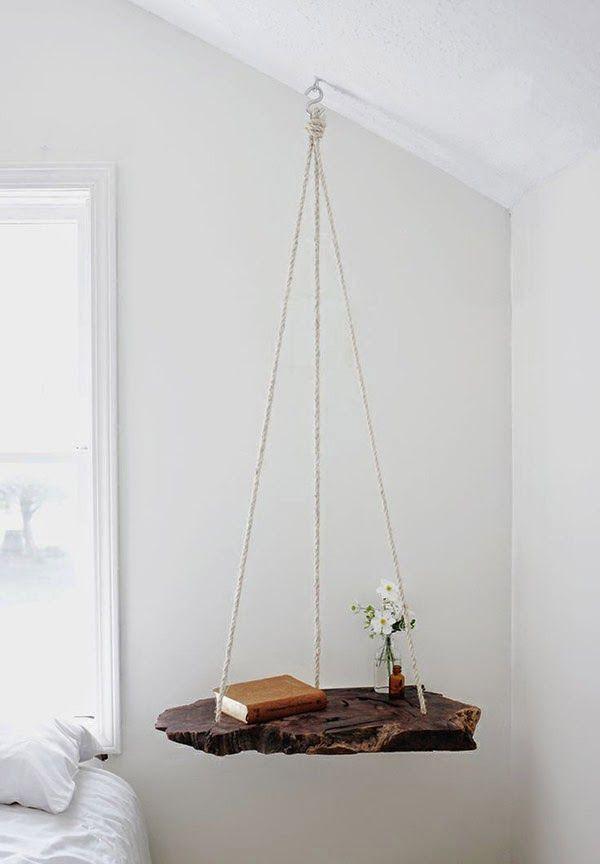 木と紐を使った吊り下げDIY術