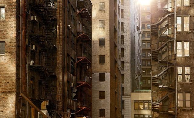 マンションが建ち並ぶ様子
