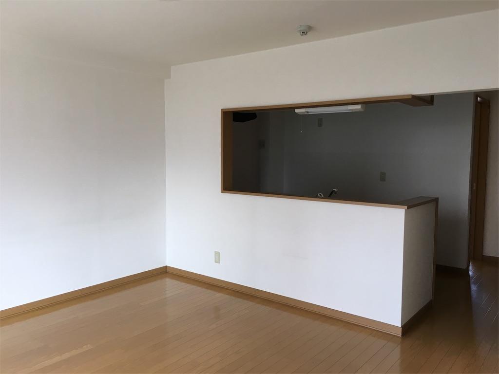 賃貸時代のセミオープン型対面式キッチン