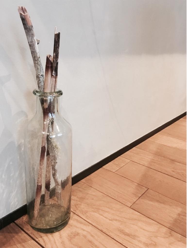アンティークのガラス瓶に入れたインガエピフィテック