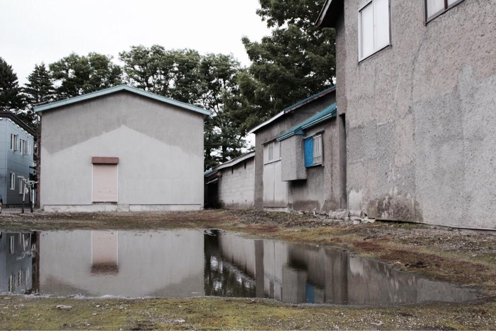 水はけの悪い空き地
