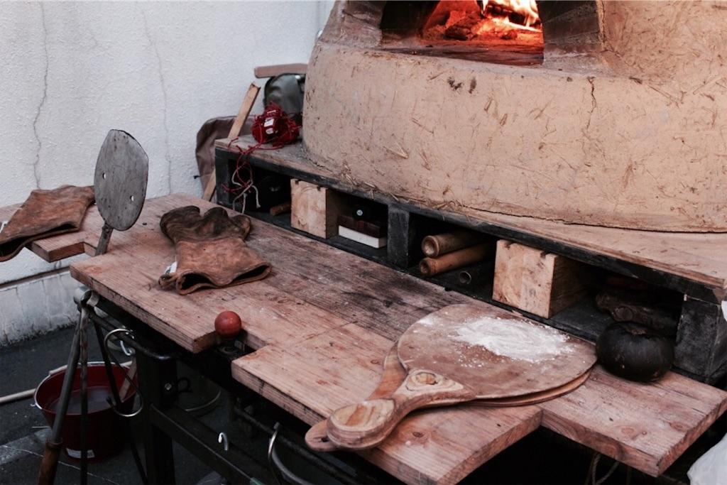 オーブンの周りはこんな感じ