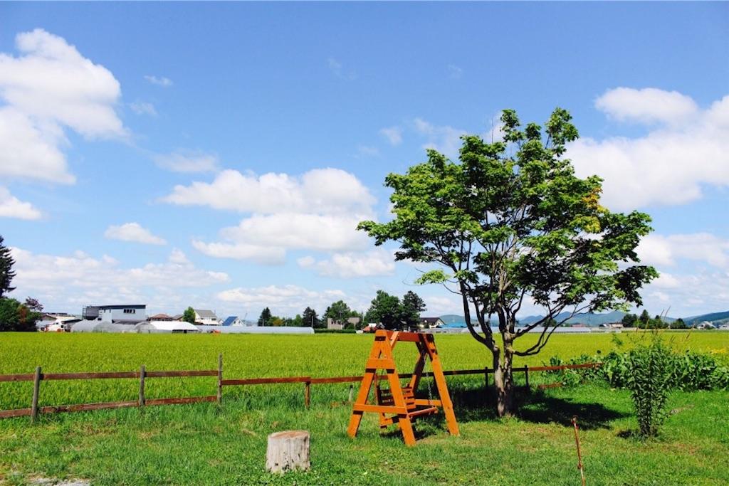 東川町「ちゃみせ」前の庭