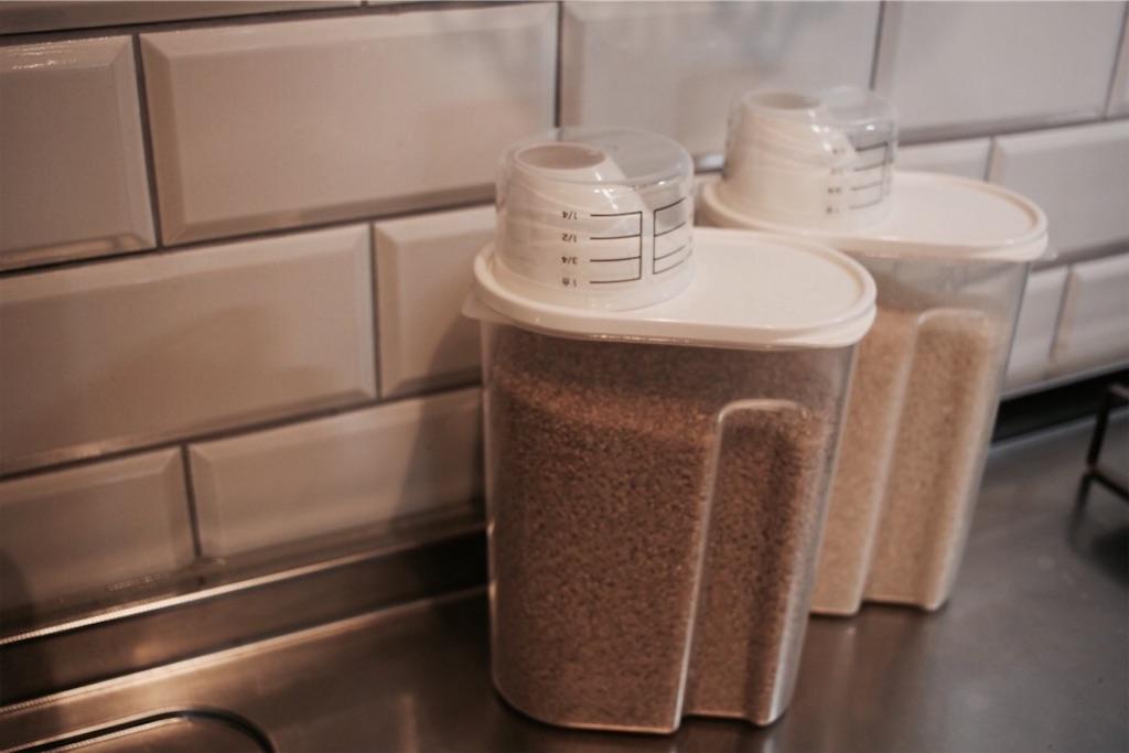 冷蔵庫に保管できる無印良品の米びつ