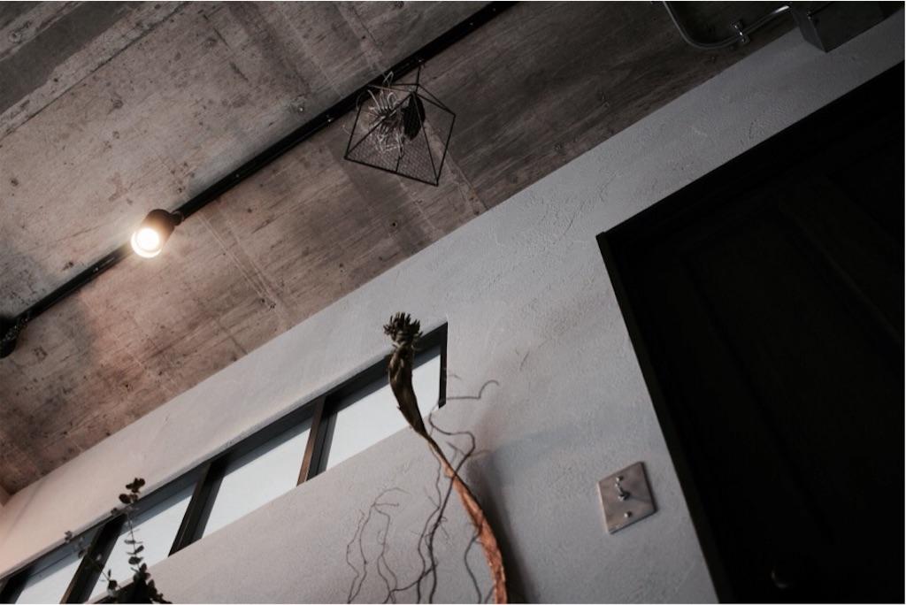 リノベーションでライティングレール(ダクトレール)を設置したリビングの天井