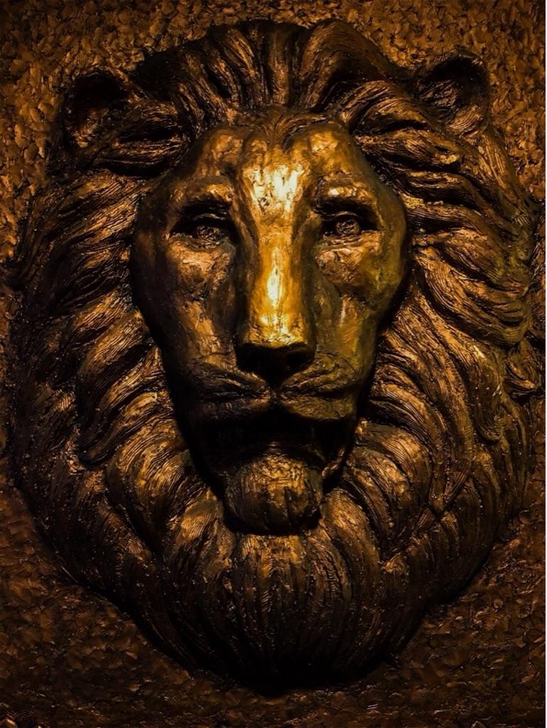 ライオンズマンションにあるライオン像