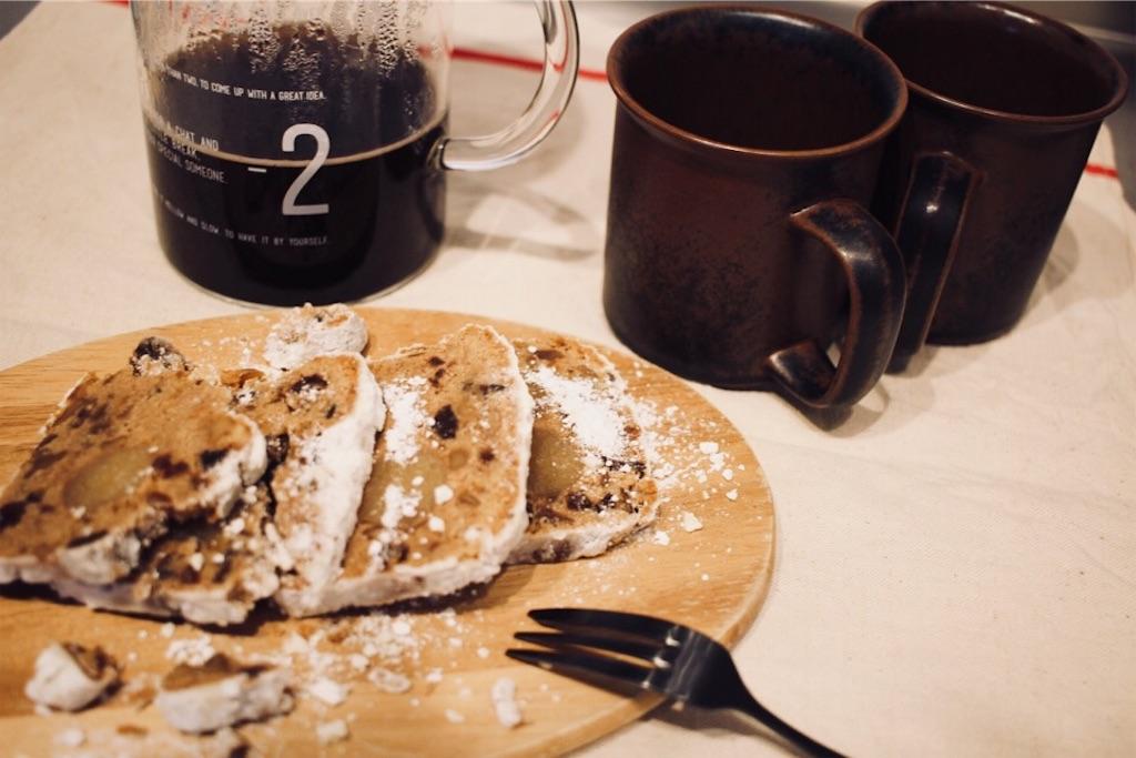 KINTOキントーのSLOW COFFEE STYLE コーヒージャグセットとシュトーレン