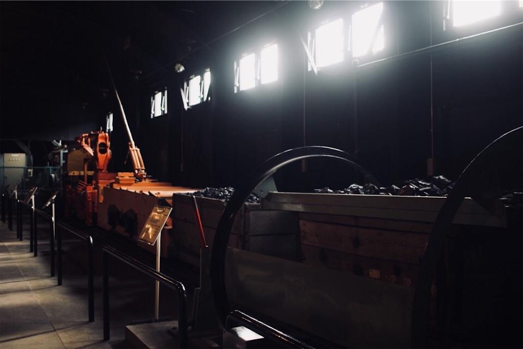 夕張市石炭博物館にある炭鉱機械館と採炭作動館