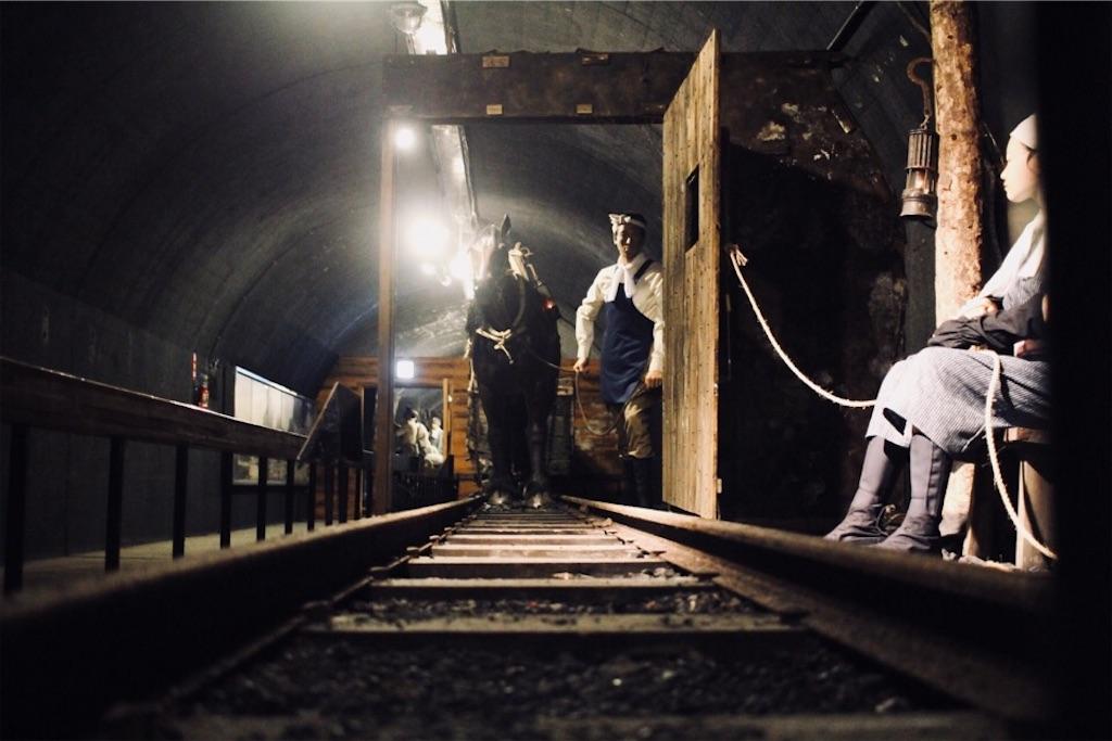 明治時代の探鉱作業の様子