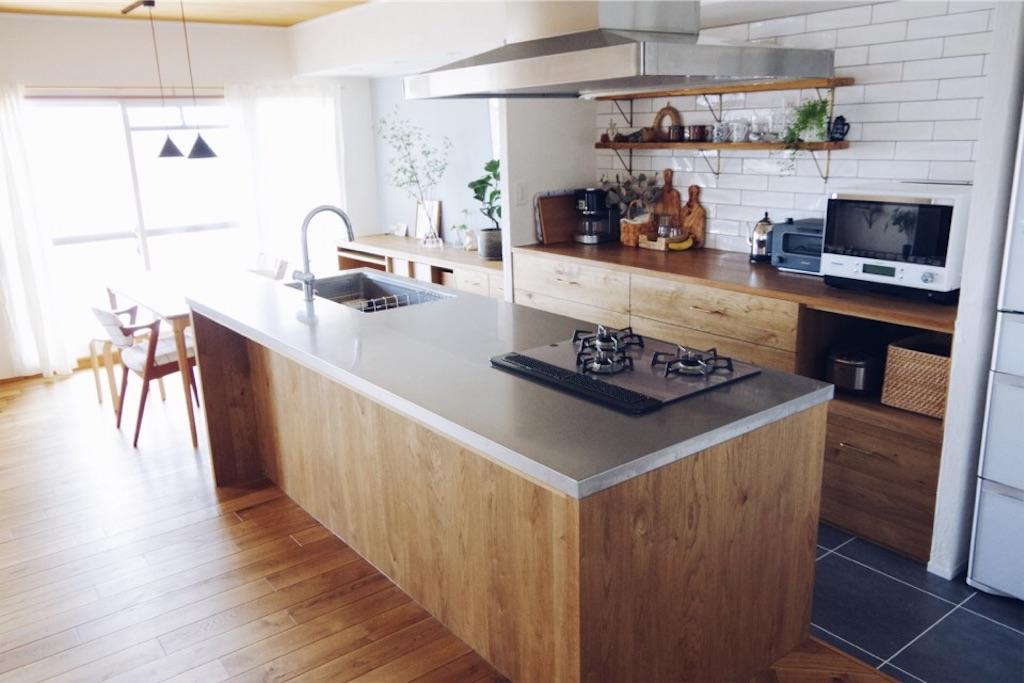 リノベーション後の造作キッチン