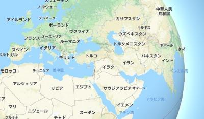 イラン・世界地図