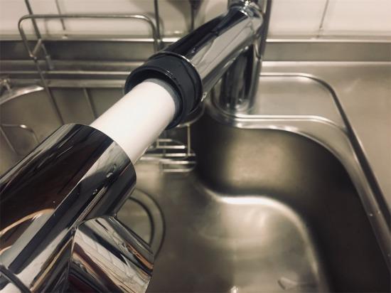 クリナップ・ラクエラの浄水器一体型水栓