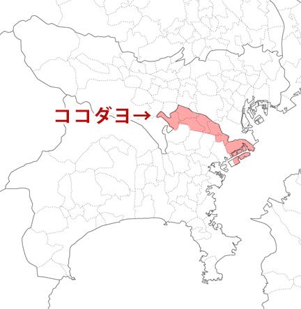 川崎市の地図