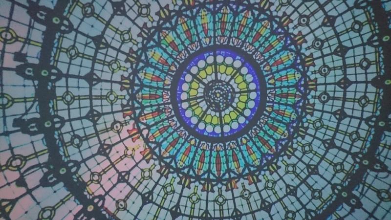 プラネタリウムの天井