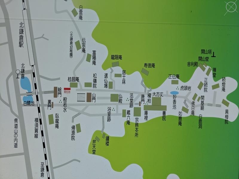 円覚寺の全体マップ