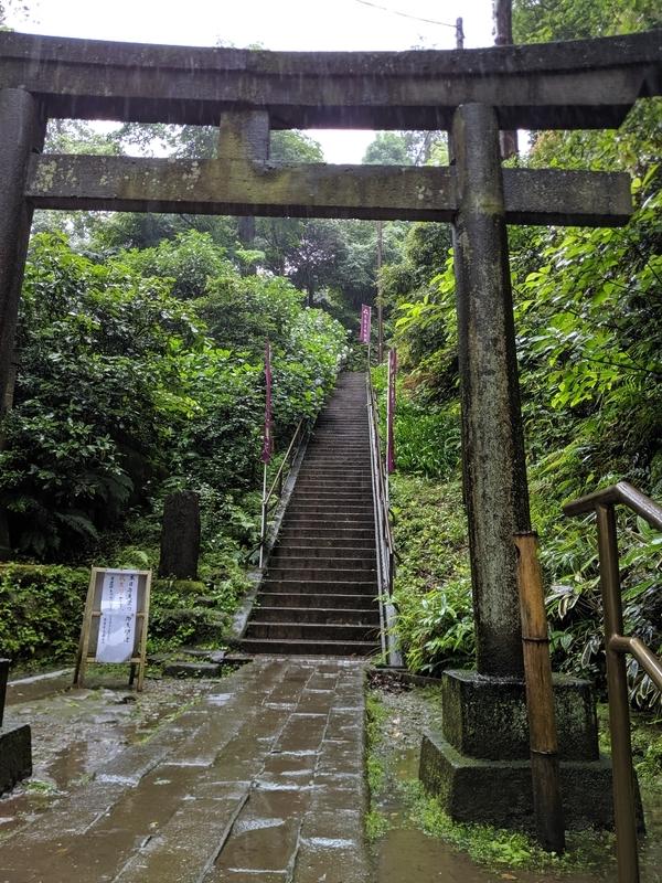 国宝の洪鐘への階段