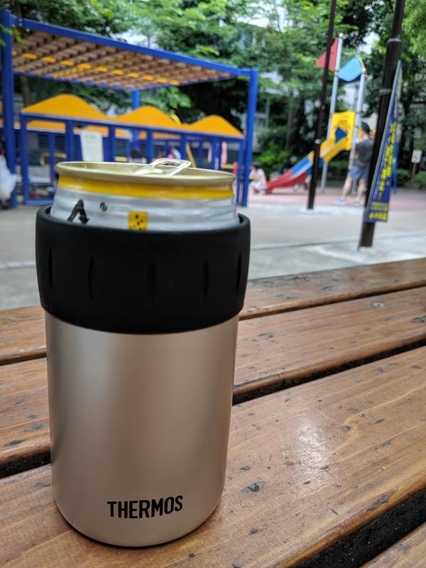 サーモスの保冷缶ホルダーとハイボール