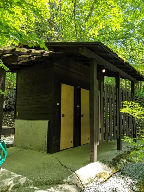 山伏オートキャンプ場のトイレ