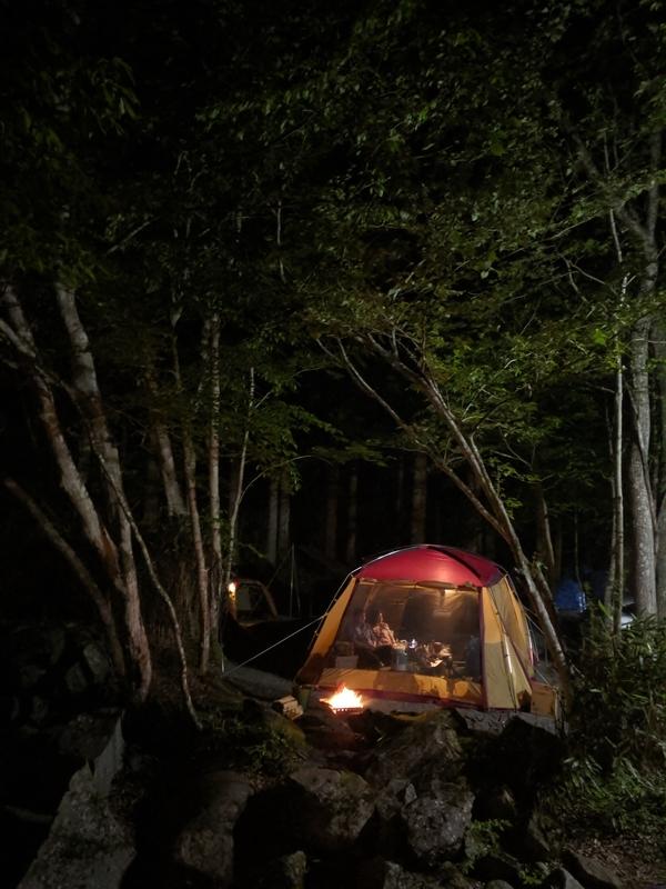 夜の山伏オートキャンプ場