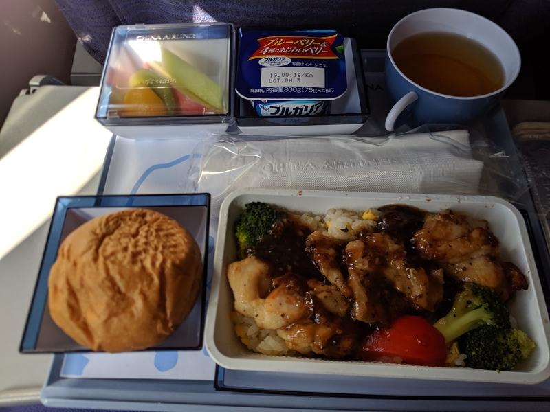 中華航空の機内食