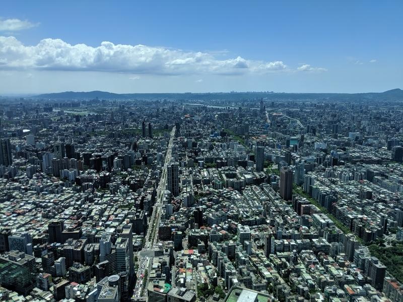 台北101の展望台から東側