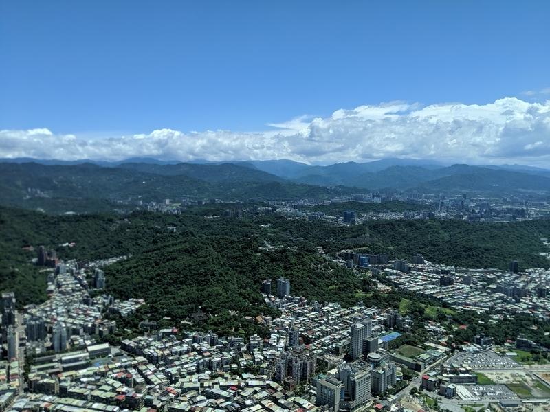 台北101の展望台から南側