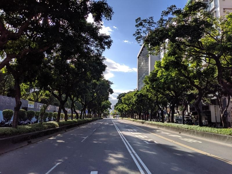 国立中正紀念堂近くの道路
