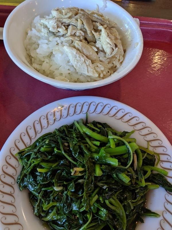 丸林魯肉飯で朝食2
