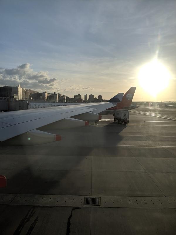 帰りのフライト