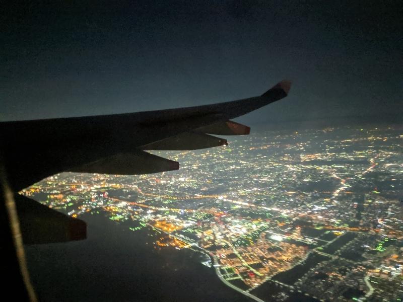 羽田上空の夜景