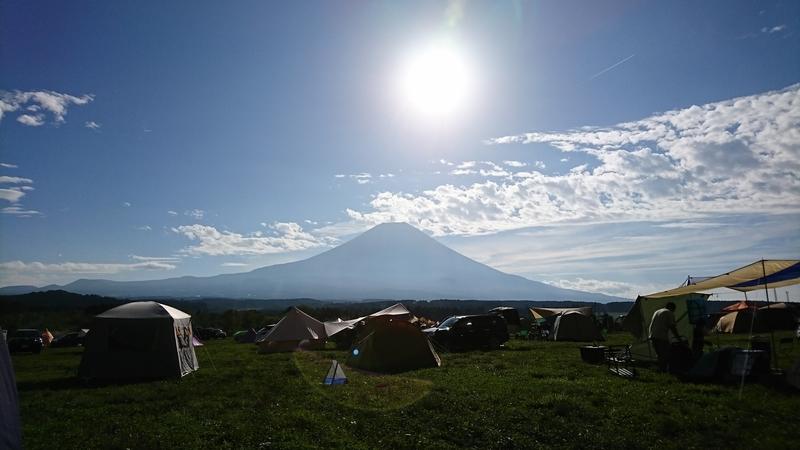 富士山を眺めながら撤収