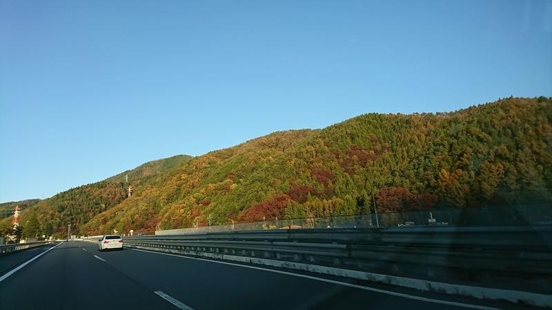 中央道から見える紅葉
