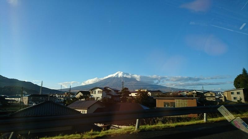 マックスバリュから見える富士山