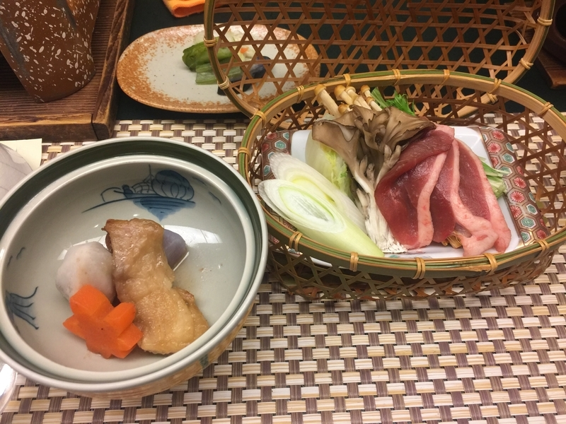 豊島屋の夕食、鴨