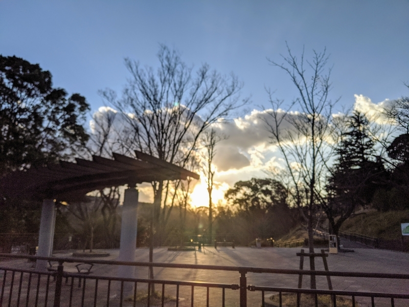 保土ヶ谷公園からの夕日