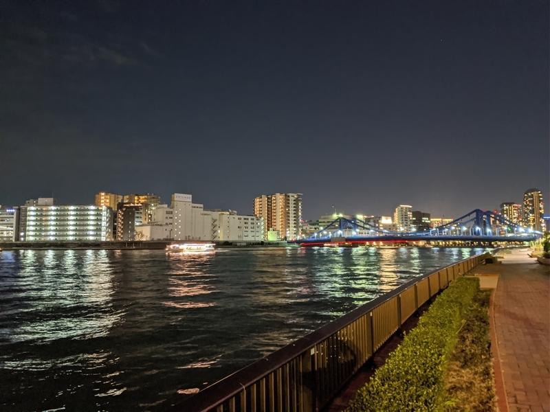 隅田川テラスからの夜景