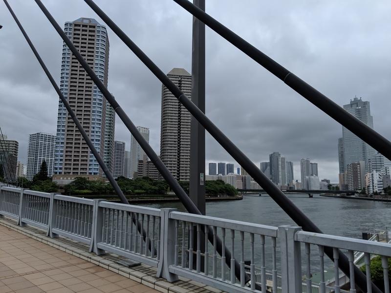 中央大橋から隅田川