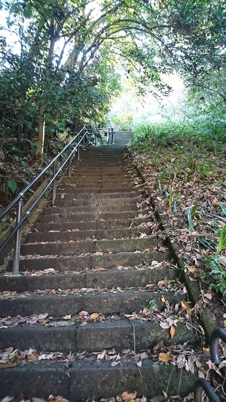 巡礼古道・浄明寺方面口 急な階段