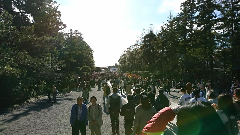 鎌倉駅方面からの日光