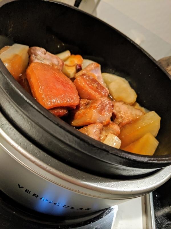 バーミキュラで豚の角煮を作る2