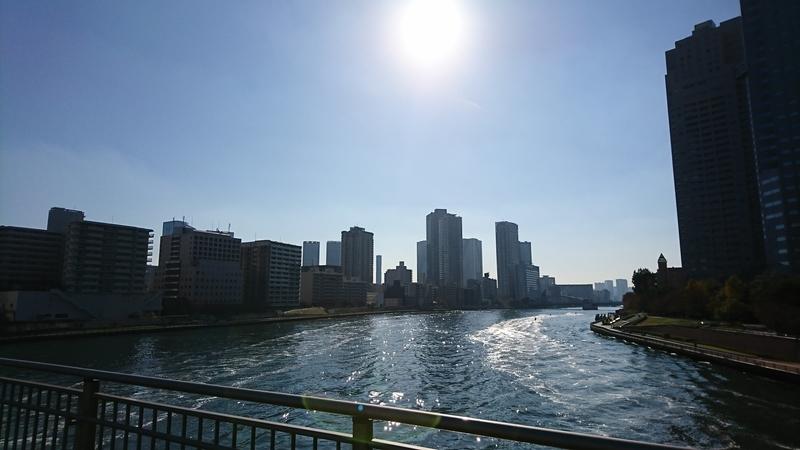 佃大橋から勝鬨橋
